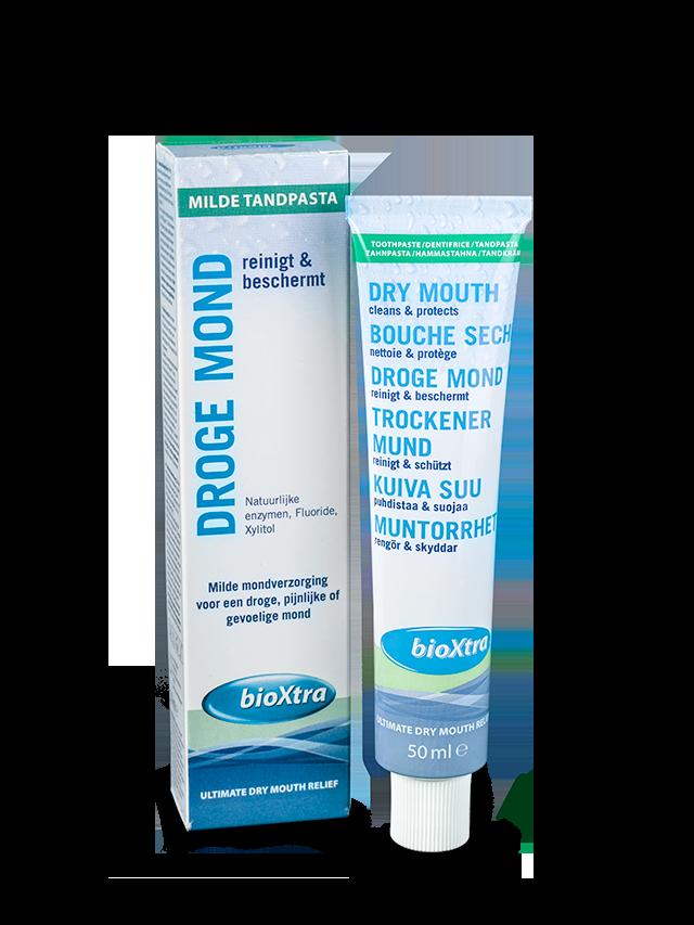 bioXtra Droge Mond Milde Tandpasta